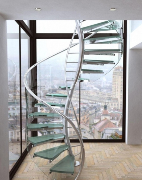 Small Spiral Staircase Dimensions Stainless Steel Handrail And Glass Staircase Step And Exotic Glass Stair Design Pics 13
