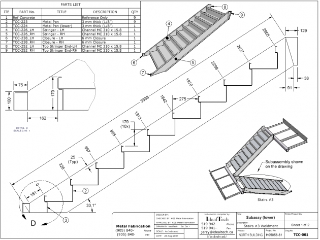 Stair Stringer Dimensions Drawing Pictures 80