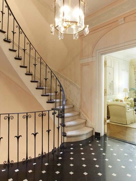 Staircases Designs With Railing Interior Furniture Innovative Wooden Staircase Design With Black Floor Patterned Pic 16