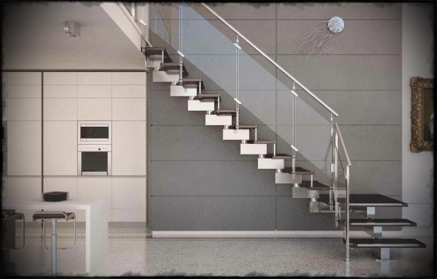 Staircases Designs With Railing Side Mount Stainless Steel Staircase Glass Railing Designs Image 53