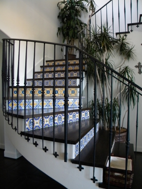 Tiles For Stair Risers Dreaming Of Spanish Tiled Risers A Well Dressed Home Pictures 18