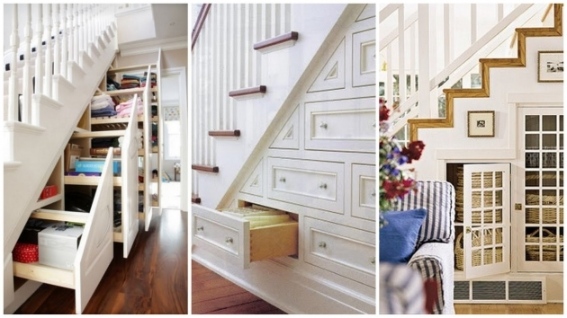 Under Stairs Storage Ideas With Drawers And Wooden Floor Along With Built In Cabinets Images 87