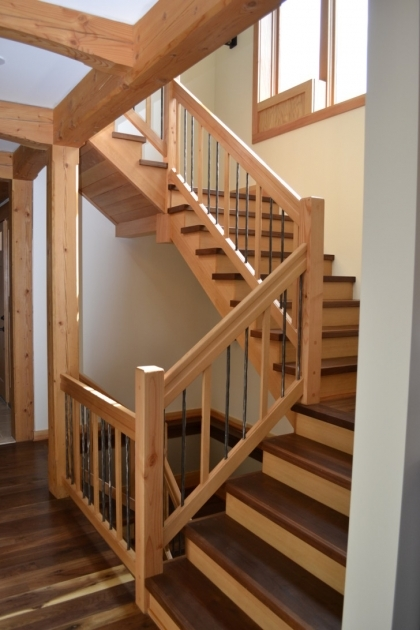 Wood Stair Spindles Home Interior Stair Design And Decoration Pics 57