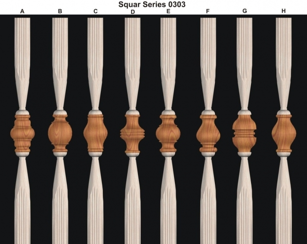 Wood Stair Spindles Wooden Balusters For Stair Decorative Picture 04
