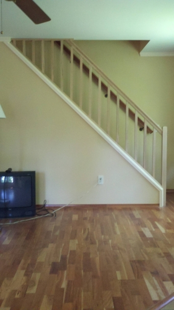 Basement Stairs Railing Set Up A Removable Stair Railing Home Improvement Picture 56