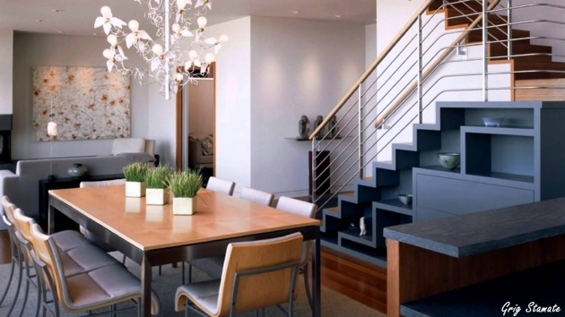 Modern Under Staircase Design Modern Staircase With Iron Baluster And Black Tread Pictures 44