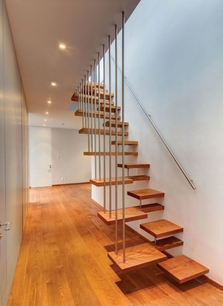 Modern Wooden Handrail Quirky Elegant Design Modern Wood Railing Applied On The Wooden Floor Picture 08