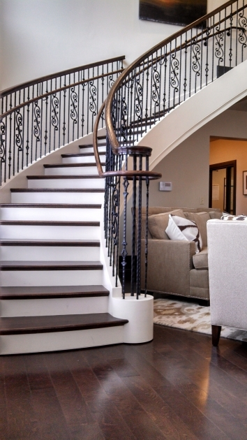 Curved Staircase Railing Curved Stairway Remodeling And Curved Stair Parts Image 62