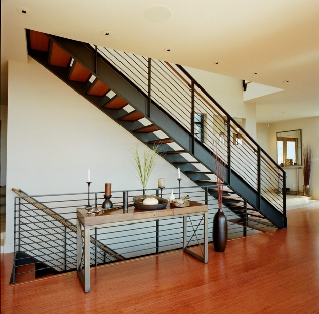 Modern Metal Stair Railings Contemporary With Recessed Lighting Photo 34
