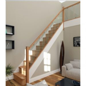 Oak Staircases with Glass Panels