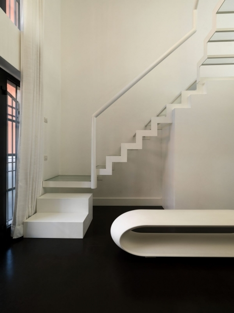 Simple Staircase Design Ideas Modern Minimalist Staircase Design With White Laminated Tread Riser And Stringer Image 76