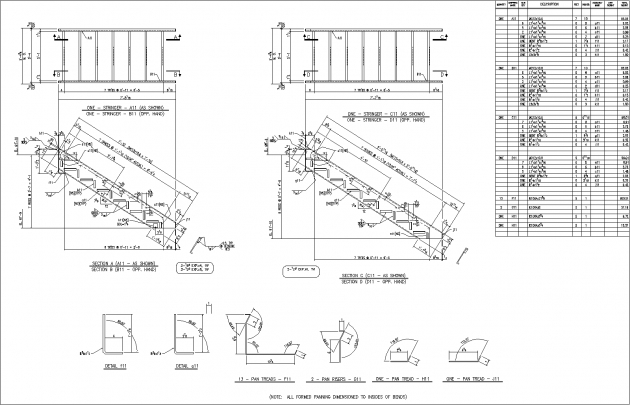 Steel Staircase Dimensions Autosd Steel Detailing Stairs And Rails Pic 09