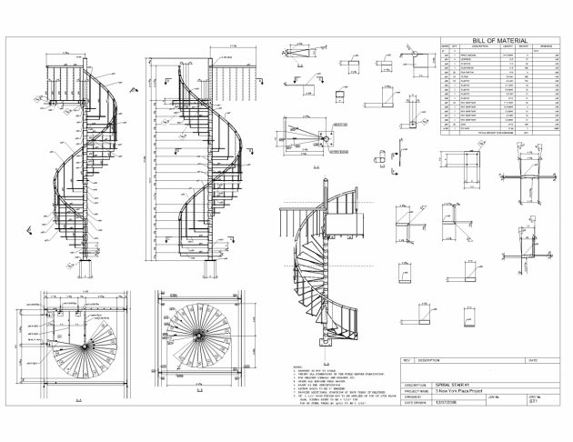 Steel Staircase Dimensions Drafting Details On Pinterest Section Drawing Picture 73