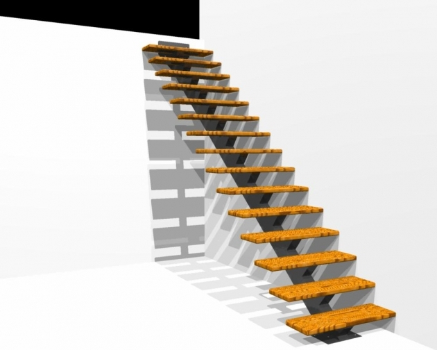 Steel Staircase Dimensions Floating Stairs And Single Stringer Staircases In Nyc And Ct Acadia Photo 51