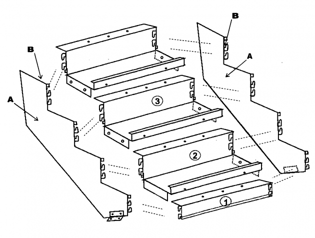 Steel Staircase Dimensions Patent Us20090293385 Boltless Metal Stair Step System For Indoor Image 58