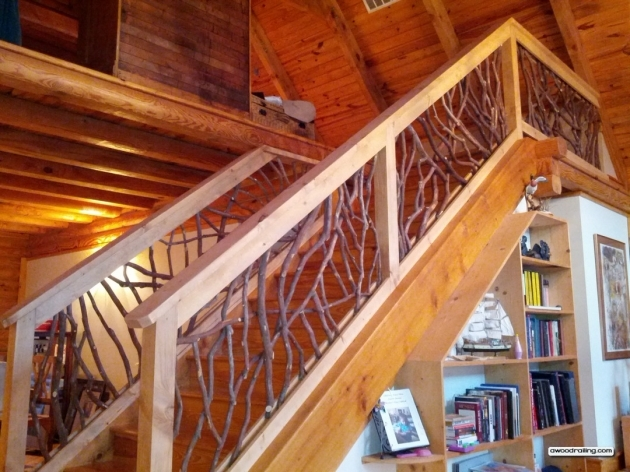 Wooden Staircase Railing Handrails Image 92