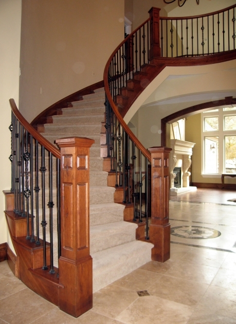 Wooden Staircase Railing Nocca Cestino Grande Pictures 70