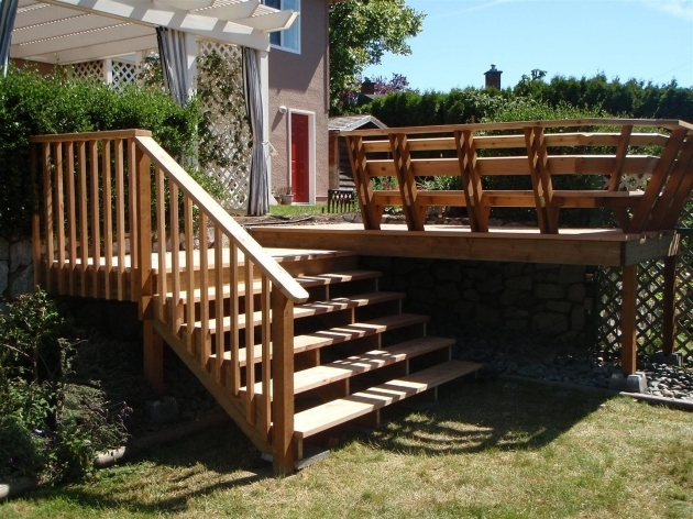 Building Stairs For A Deck And Landing Images 82