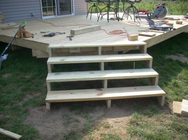 Building Stairs For A Deck Installation Photo 64