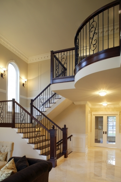 Designs For Stairs With A Landing Beautiful Entrance Hall Designs And Ideas Pic 91