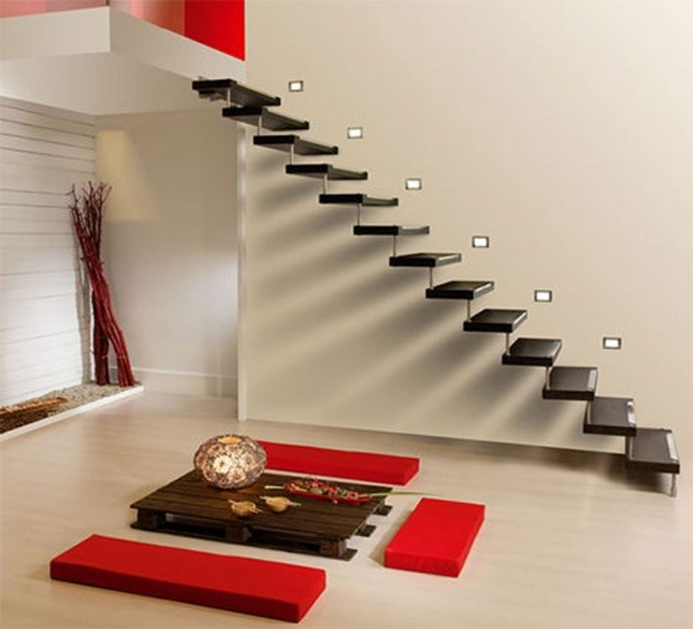 floating Staircase Brackets Different Types Of Staircase With Black Floating Stairs And No Railing Stairs Image 80