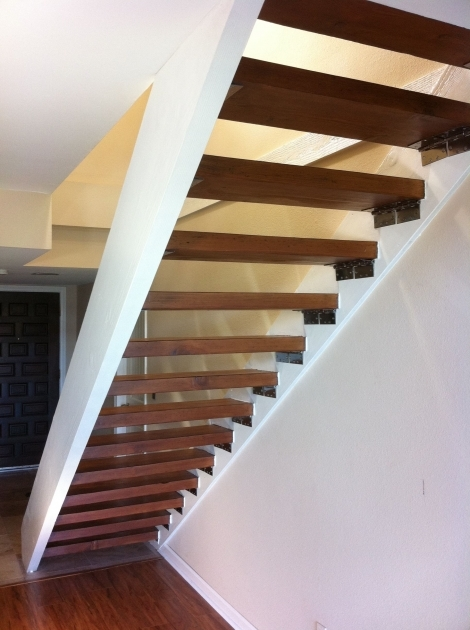 floating Stairs Brackets Project Complete Beige To Beautiful Hand Photos 27