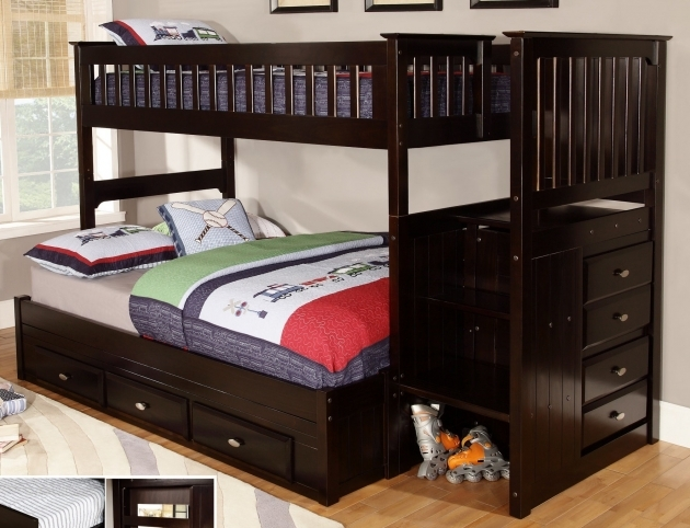 Full Over Full Bunk Beds With Stairs With Drawers Design Ideas Pictures 65