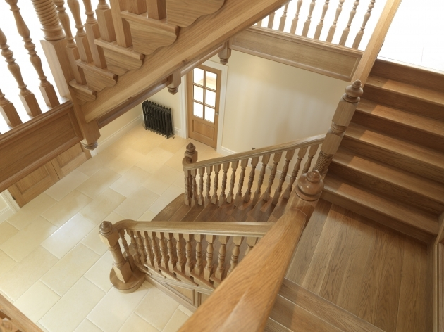 Oak Staircase Spindles Colonial Handrailing And Newel Posts For Interior Railings Pictures 83