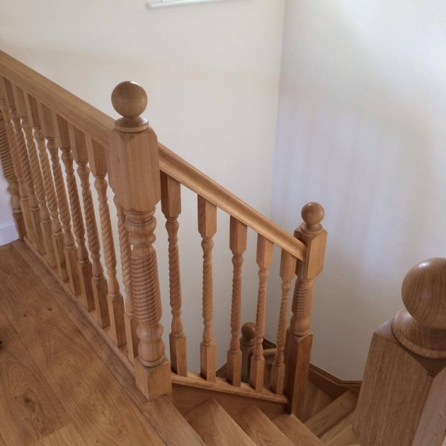 Oak Staircase Spindles Double Winder Stairs With Oak Barley Twist Photos 94
