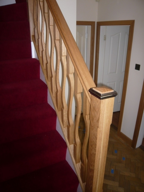 Oak Staircase Spindles Oak Quarter Landing Staircase With 39id Flo39 Spindles Image 75