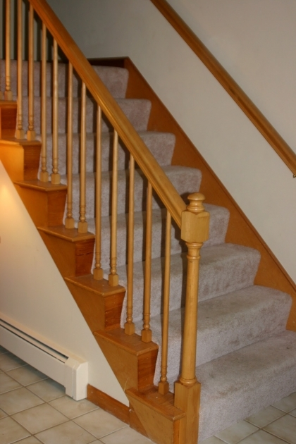 Oak Staircase Spindles Railing And Newel Posts Photo 33