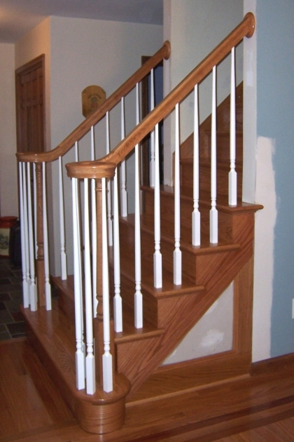 Oak Staircase Spindles White Trim Images 93
