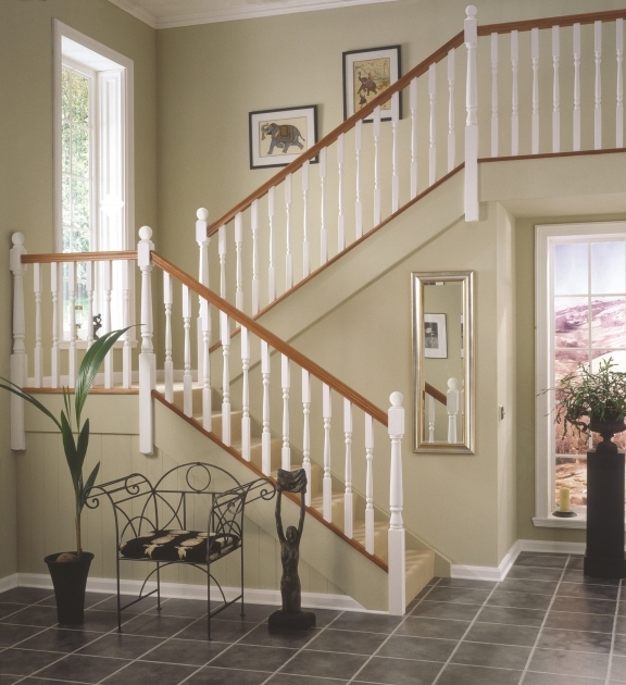 Oak Staircase White Spindles Balustrade Pic 28