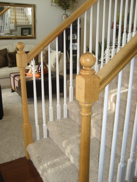 Oak Staircase White Spindles Chic Decorating Stair Railings Image 63