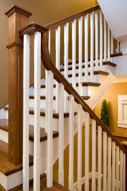 Oak Staircase White Spindles Distinctive Interiors Custom Matched Oak Stair Materials Pics 92