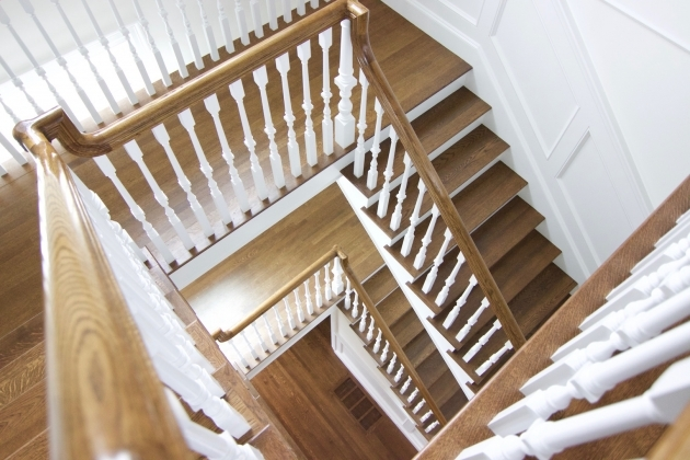 Oak Staircase White Spindles Hardwood Staircases Ideas Images 71