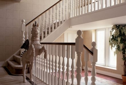 Oak Staircase White Spindles