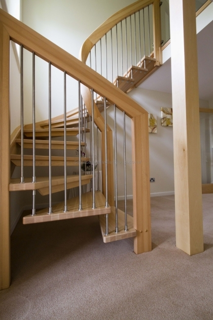 Open Staircase Railing Ideas Design Spiral Picture 01
