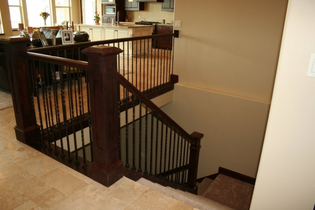 Open Staircase Railing Modern Stairway Between Kitchen And Living Room Images 88