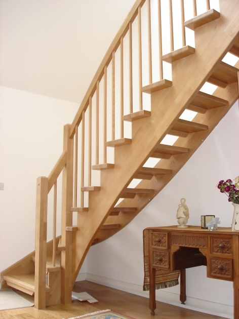 Open Staircase Railing Rustic Timber Staircase Design Ideas Photo 60
