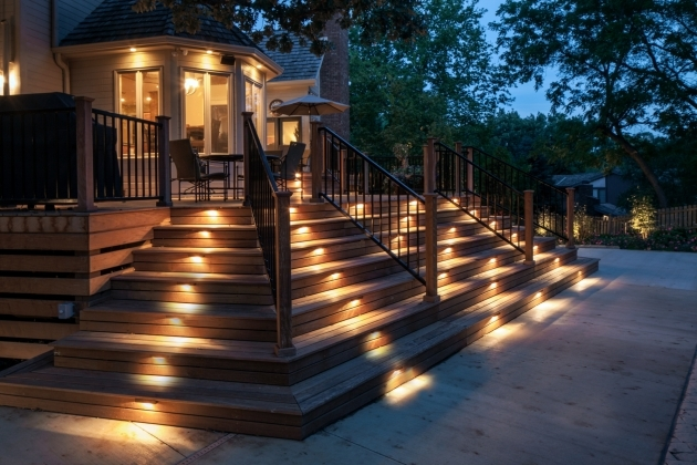 Outdoor Stairs Lighting Deck And Patio Lighting Picture 54
