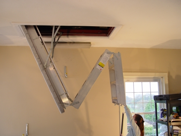 Pull Down Pole For Attic Stairs Big Steel Installation Pics 04
