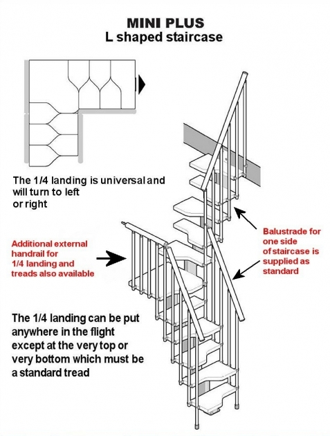space Saving Stairs Building Regs Mini Typical L Layout Picture 59