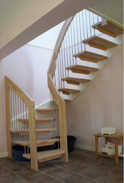 Staircase Designs For Small Homes Attractive Circular Stairs Design With Oak Wood Tread And Chrome Polished Steel Baluster Picture 47