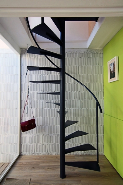 Staircase Designs For Small Homes Black Mate Metal Indoor Floating Spiral Staircase Design For Space Saving Ideas Photos 52