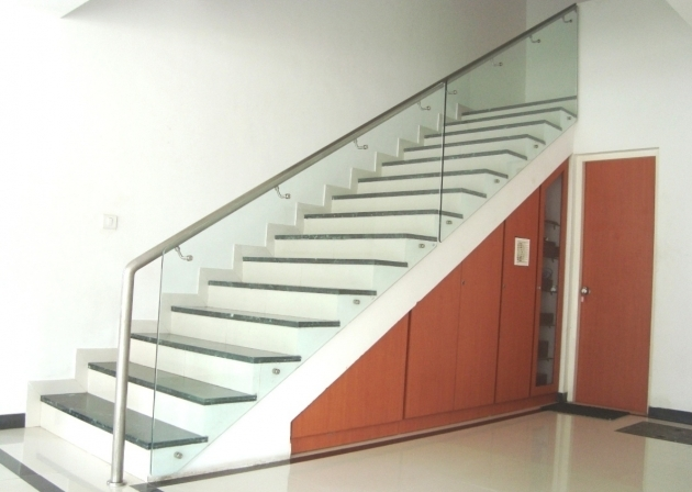 Staircase Glass Railings Basement Pictures 81