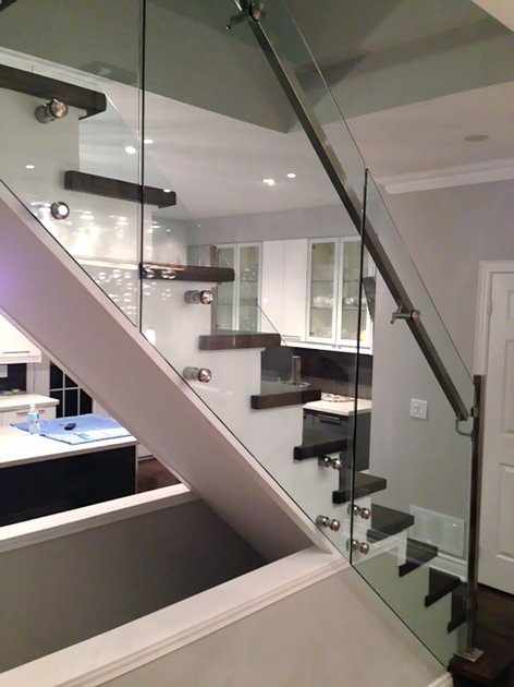 Staircase Glass Railings Interior Stair Systems Photo 44