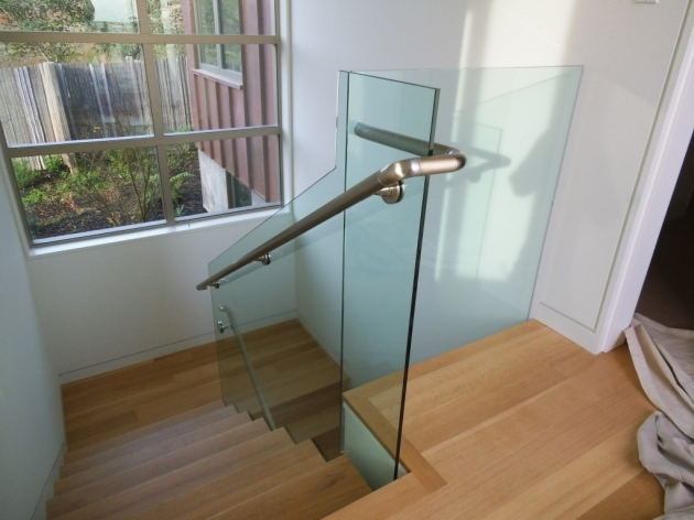 Staircase Glass Railings With Stainless Steel Handrails  Pictures 01