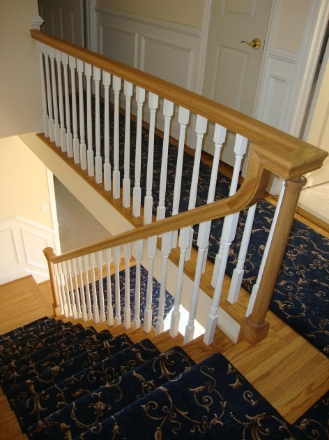 Staircase Spindles Wood And Iron Balusters New Handrail Cherry Hill Photos 04