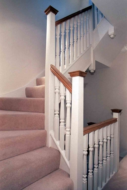 Staircase Spindles Wood Home Interior Design And Decoration Ideas Using White Wood Staircase Spindles Including Solid Oak Wood Pictures 87